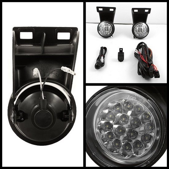 1994-2001 Dodge Ram 1500 2500 3500 Clear Housing LED Fog Lights