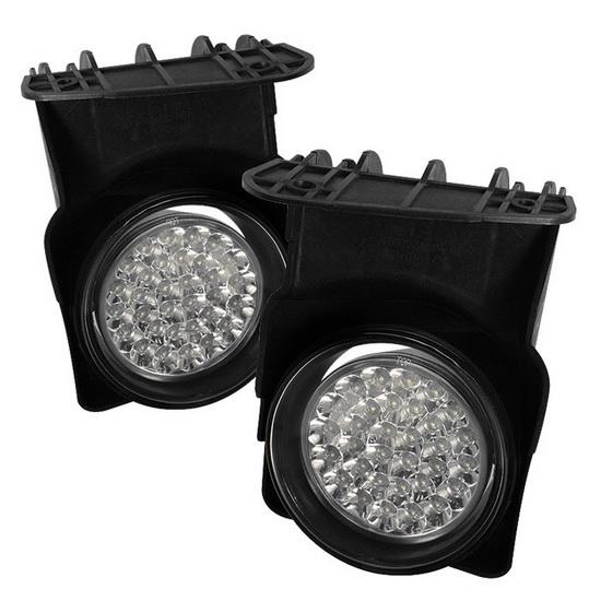 2003-2006 GMC Sierra 1500 2500 3500 1500HD 2500HD Clear Housing LED Fog Lights