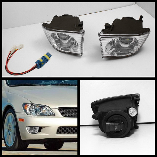 2001-2005 Lexus IS300 Clear Housing OEM Style Fog Lights