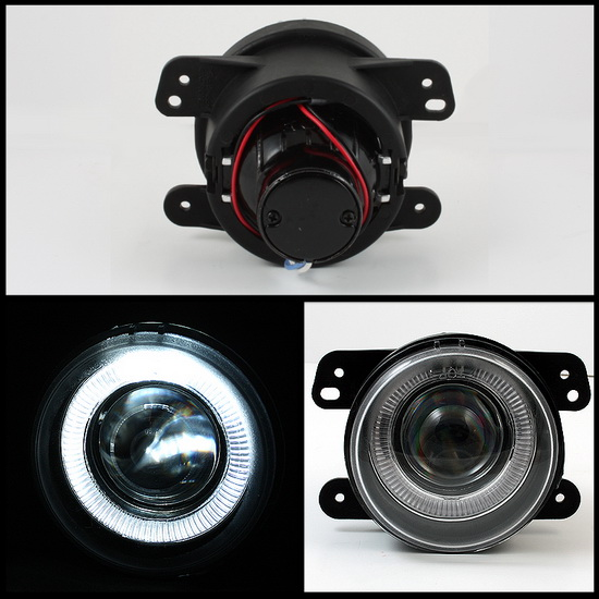 2005-2008 Dodge Magnum Journey Chrysler 300 PT Cruiser Jeep Wrangler Smoke Housing Projector Fog Lights