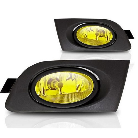 2001-2003 HONDA CIVIC COUPE OR SEDAN OEM Style Selective Yellow Lens Fog Lights Fog Lamps