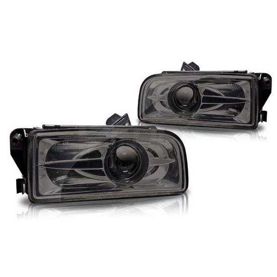 1992-1998 BMW E36 M3 OEM Style Dark Smoked Lens Fog Lights Fog Lamps