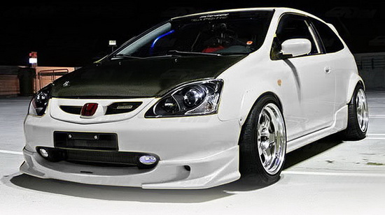 02 05 honda civic si hatchback clear oem style fog lights. Black Bedroom Furniture Sets. Home Design Ideas