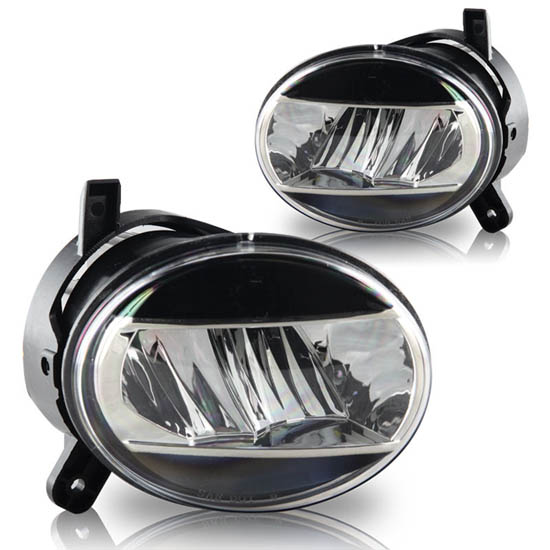 09-12 Audi A4 Chrome Housing Aftermarket LED Fog Lamps