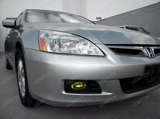 06-07 Honda Accord 4DR Sedan JDM Yellow Housing OEM Style Fog Lights