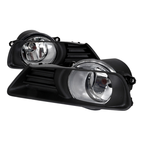 2007 2008 toyota camry oem style clear housing fog lights. Black Bedroom Furniture Sets. Home Design Ideas