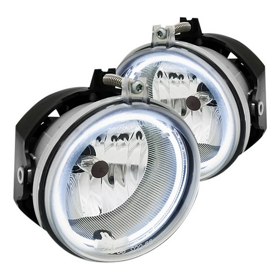 2006-2008 Dodge CHARGER Chrome Lens CCFL Halo Fog Lights