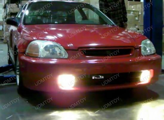 96-98 Honda CIVIC JDM Yellow Housing OEM Style Fog Lights