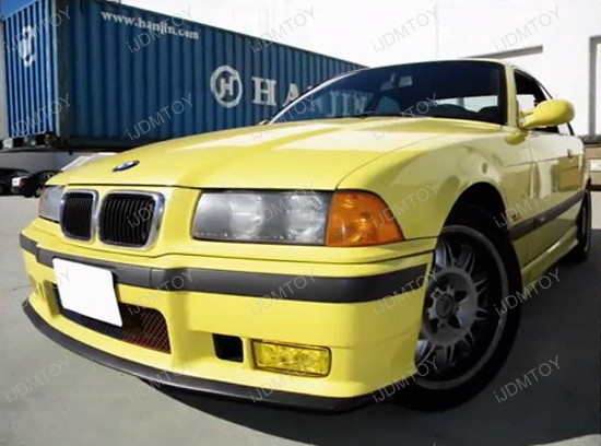 1992 1998 Bmw E36 3 Series Oem Style Yellow Housing Fog Lights