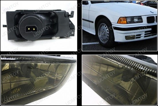 1992-1998 BMW E36 3 SERIES Smoke Housing OEM Style Fog Lights