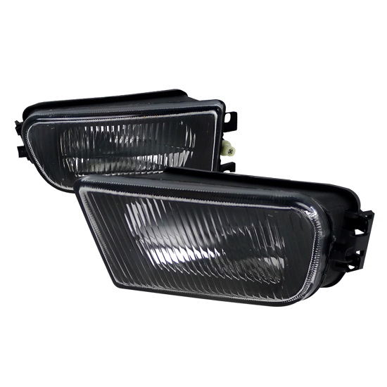97-00 BMW E39 5 SERIES Black Housing Clear Lens OEM Style Fog Lights