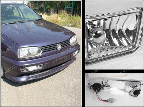 93-98 Volkswagen GOLF/JETTA Clear Housing OEM Style Fog Lights