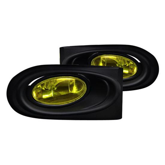 spec d 2002 2004 acura rsx yellow lens oem style fog lights. Black Bedroom Furniture Sets. Home Design Ideas