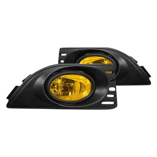 2005-2006 Acura RSX Yellow Lens OEM Style Fog Lights
