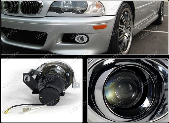 01 06 Bmw E46 3 Series 325i 330i M3 Chrome Projector Fog Lights