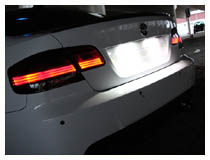 LED License Plate Lights Installation