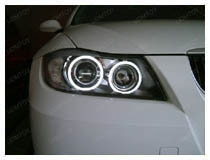 2006-08 BMW E90 3 Series LED Angel Eyes Installation (apply for 75-009)