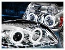 Dodge Projector Headlights with Angel Eyes